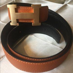 Brand New orange Hermès belt